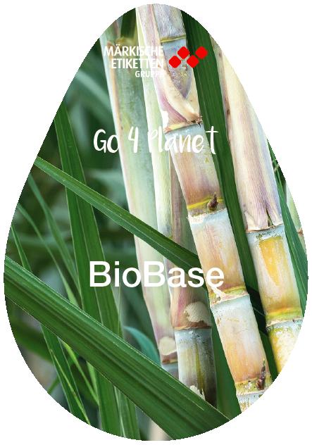 Nachhaltiges Etikett auf Zuckerrohrbasis - biobase