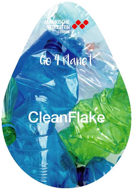 Nachhaltiges Etikett für das bessere Recyceln von PET Flaschen