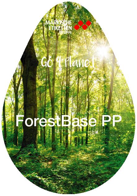 Nachhaltiges Etikett auf Holzbasis in Kunststoffqualität