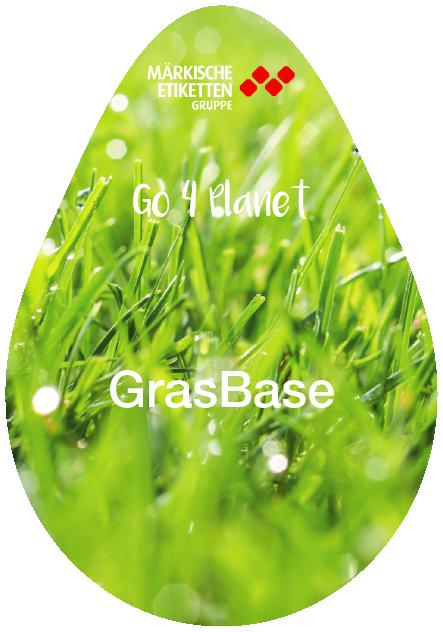 Nachhaltiges Etikett auf Grasbasis - grasbase