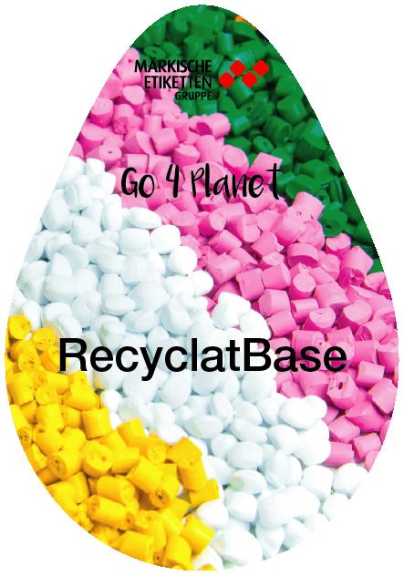 Nachhaltiges Etikett aus Recyclaten